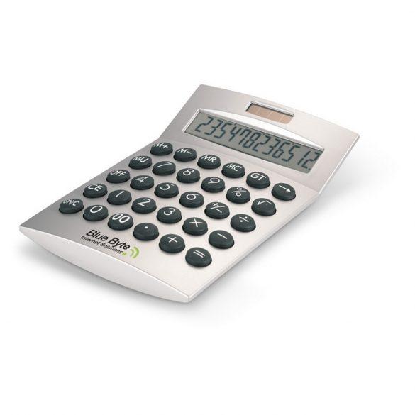 Calculator de birou, solar cu 12 cifre, Everestus, 20IAN1183, Argintiu, Plastic