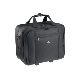Trolley pentru laptop, poliester, black