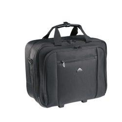 Geanta troler pentru Laptop 15 inch, poliester, Everestus, GL31, negru, saculet de calatorie si eticheta bagaj incluse