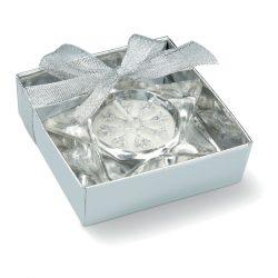 Suport pentru lumanare in form, Glass, matt silver