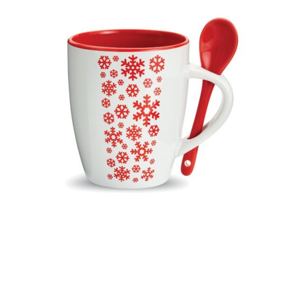 Cana ceramica cu lingurita, Ceramics, red