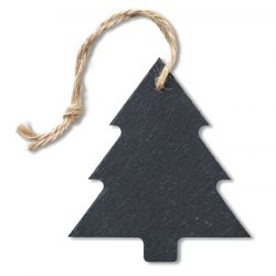 Ornament brad din ardezie, materiale multiple, black