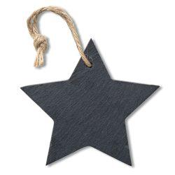 Ornament stea din ardezie, materiale multiple, black