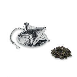 Infuzor ceai in forma stea, materiale multiple, matt silver