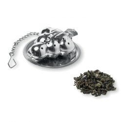 Infuzor ceai in forma brad, materiale multiple, matt silver