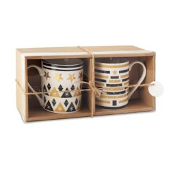 Set 2 cani in cutie, Ceramics, multicolor