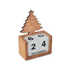 Calendar de masa de Craciun, Everestus, 9IA19384, Lemn, Natur