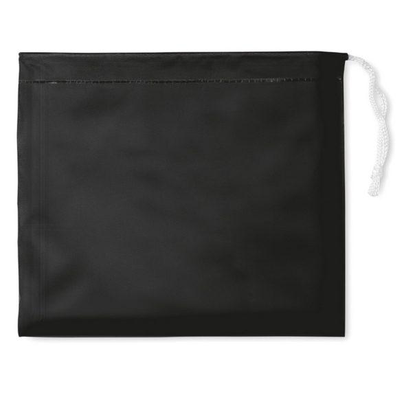 Pelerina de ploaie cu gluga si husa, Everestus, 20IAN1193, Negru, PVC
