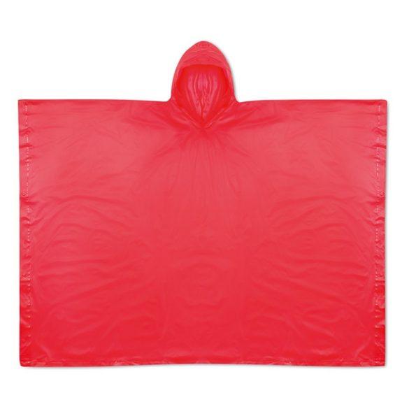 Pelerina de ploaie cu gluga si husa, Everestus, 20IAN1195, Rosu, PVC