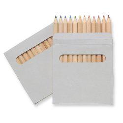 Set de 12 creioane colorate, Cardboard, brown