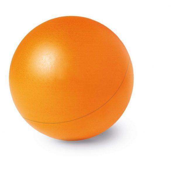 Jucarie antistres Minge unicolora, diametru 60 mm, Everestus, ASJ006, poliuretan, portocaliu