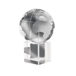 Prespapier din cristal, Everestus, ABE01, transparent, lupa de citit inclusa