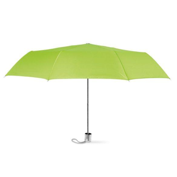 Umbrela pliabila cu deschidere manuala, 21 inch, 3 sectiuni, poliester, Everestus, 8IA19131, verde lime