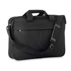 Geanta pentru documente, poliester, Everestus, GD7, negru, saculet de calatorie si eticheta bagaj incluse
