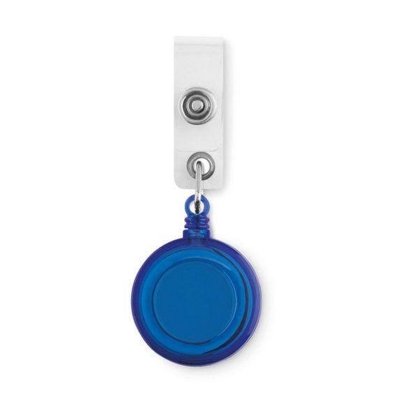 Suport ecuson cu clema metalica, Ø 3.2x0.8x4.2 cm, Everestus, 20SEP1509, Plastic, Albastru
