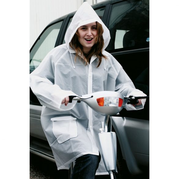 Pelerina de ploaie cu gluga, Everestus, 20IAN1192, Transparent, EVA