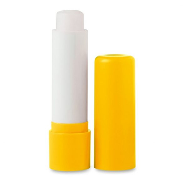 Balsam natural pentru buze, Plastic, yellow