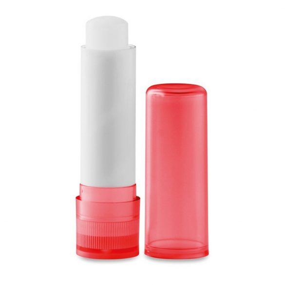 Balsam natural pentru buze, Plastic, transparent red