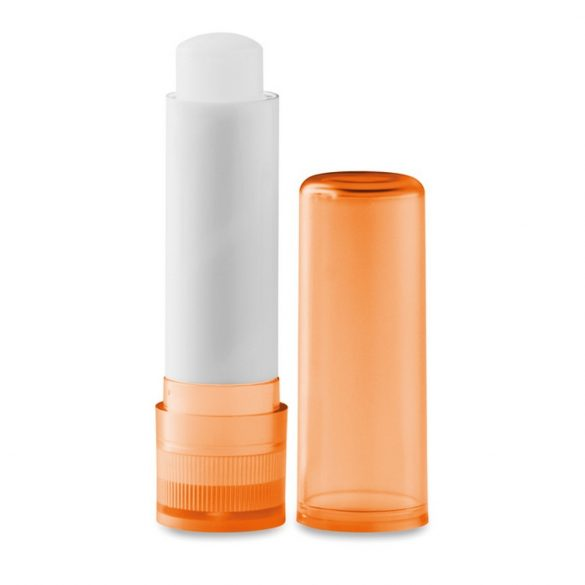 Balsam natural pentru buze, Plastic, transparent orange