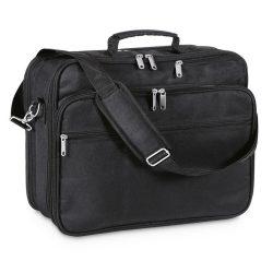 Geanta pentru Laptop 14 inch, poliester, Everestus, GL17, negru, saculet de calatorie si eticheta bagaj incluse