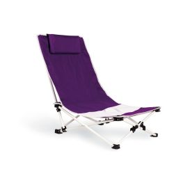 Scaun pliant de plaja, poliester, violet