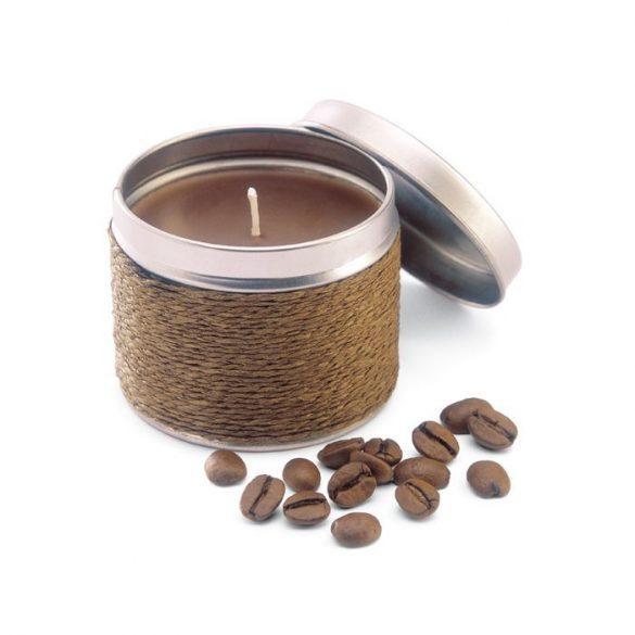 Lumanare parfumata cafea, in cutiuta metalica, Everestus, LPD12, maro