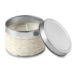 Lumanare parfumata vanilie, in cutiuta metalica, Everestus, LPD15,alb, laveta inclusa
