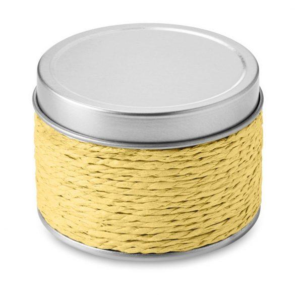 Lumanare parfumata lamaie, in cutiuta metalica, Everestus, LPD16, galben