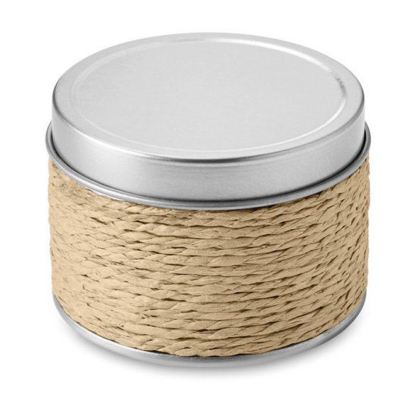 Lumanare parfumata scortisoara, in cutiuta metalica, Everestus, LPD11, bej
