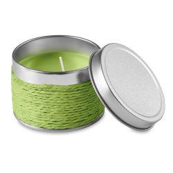 Lumanare parfumata mar verde, in cutiuta metalica, Everestus, LPD13, verde lime, laveta inclusa