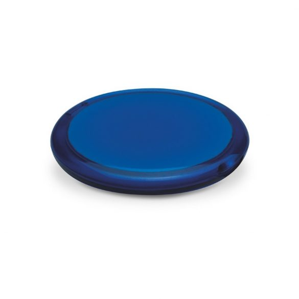 Oglinda rotunda dubla, Plastic, transparent blue