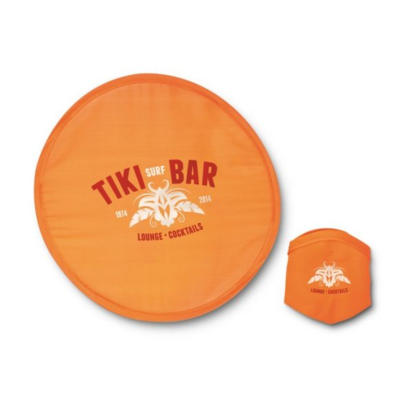 Frisbee pliabil din nailon, poliester, orange