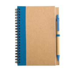 Bloc notes reciclat si pix, Paper, blue