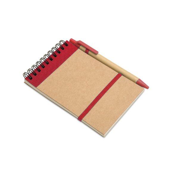 Bloc notes reciclat si pix, Paper, red