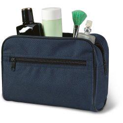 Borseta cosmetice pentru voiaj, Everestus, FT02, poliester, albastru, saculet de calatorie inclus