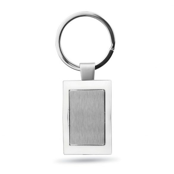 Breloc dreptunghiular, Everestus, KR0215, metal, argintiu