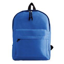 Rucsac sport casual cu buzunar exterior si fermoar, 29x11.5x38 cm, Everestus, 20SEP1258, Poliester 600D, Albastru