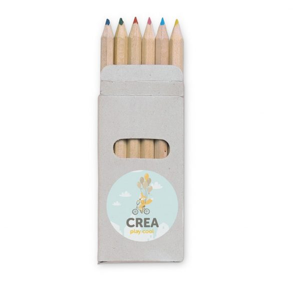 6 creioane colorate, Wood, multicolor