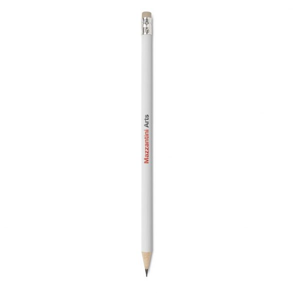 Creion cu radiera, Wood, white