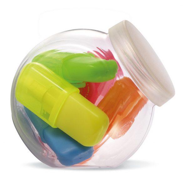 5 textmarkere in cutie mica, Plastic, multicolor