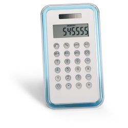 Calculator cu 8 cifre, Plastic, transparent blue