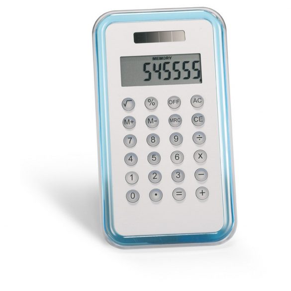 Calculator cu 8 cifre, Plastic, transparent blue