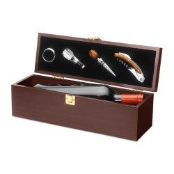 Set accesorii vin in cutie, Everestus, AV6, lemn