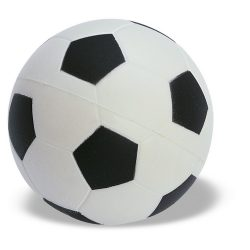 Jucarie antistres Minge de Fotbal, Everestus, ASJ011, poliuretan, alb, negru