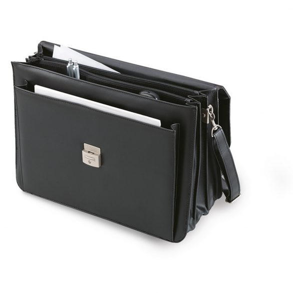 Servieta Laptop din imitatie piele, pvc, Everestus, GL29, negru