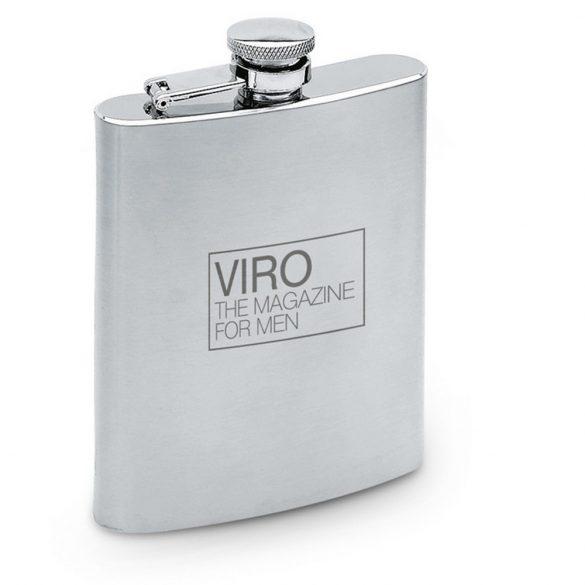 Plosca satinata, 175 ml, Everestus, 20IAN2187, Argintiu, Metal