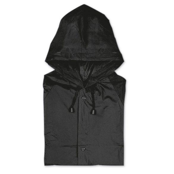 Pelerina de ploaie cu gluga, Everestus, 20IAN1198, Negru, PVC
