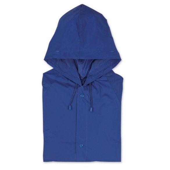 Pelerina de ploaie cu gluga, Everestus, 20IAN1199, Albastru, PVC