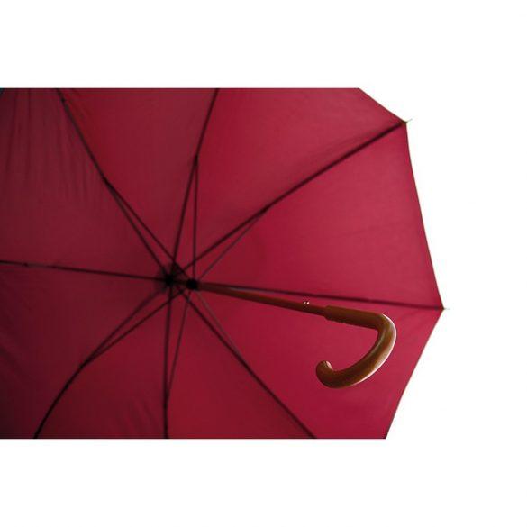 Umbrela 23 inch, maner curbat din lemn, Everestus, 20IAN808, Burgundy, Poliester