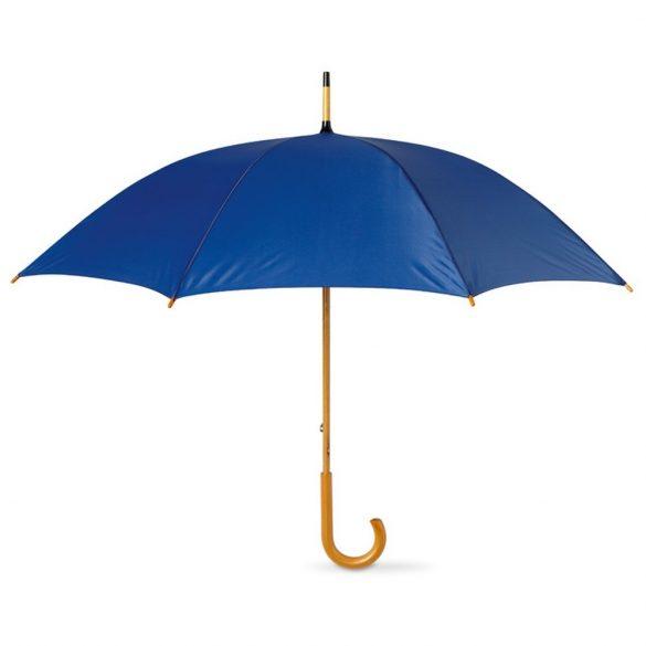 Umbrela 23 inch, maner curbat din lemn, Everestus, 20IAN807, Albastru, Poliester
